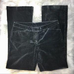 Gray velvet velour trousers pants straight leg 8